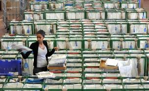 חבילות בדואר ישראל, ארכיון (צילום: פלאש 90, יוסי זליגר)