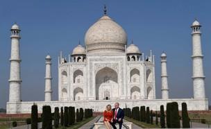 ביבי ושרה בביקור בטאג' מהאל (צילום: אבי אוחיון)