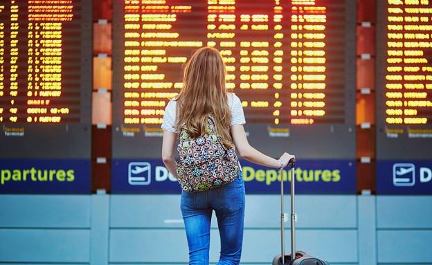 לוח טיסות (צילום: Ekaterina Pokrovsky, shutterstock)