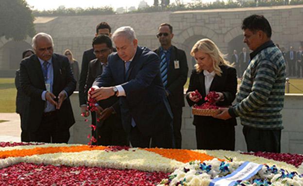 """רה""""מ במהלך ביקורו בהודו (צילום: אבי אוחיון/ לע""""מ)"""