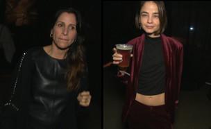 """מתקזזות: בת חן ואורנה מתלבשות בשביל אחת (צילום: מתוך """"ערב טוב עם גיא פינס"""", שידורי קשת)"""