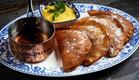 עטייף עם קרם ערמונים ומסקרפונה  (צילום: אמיר מנחם, מאסטר שף)