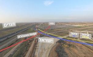 הדמיית מנהרת טרור בכרם שלום (צילום: דובר צה''ל)