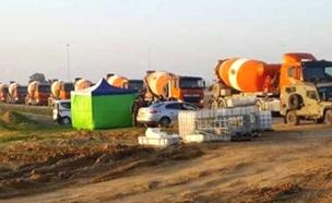 250 משאיות בכרם שלום (צילום: ללא)