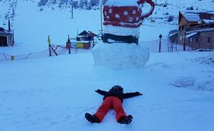 אתר החרמון שלג (צילום: חדשות 2)