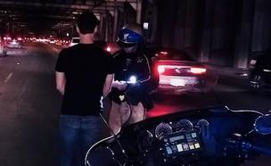 נהג טסלה שיכור עם תירוץ מקורי (צילום: CHP San Francisco, טוויטר)