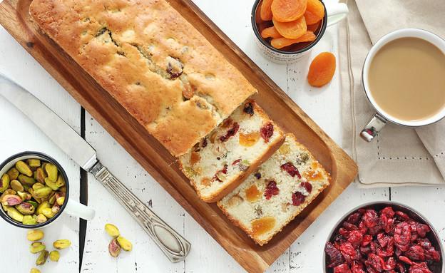 עוגת פירות יבשים (צילום: ענבל לביא, אוכל טוב)