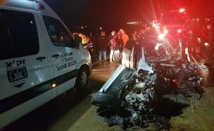 """זירת תאונה, ארכיון (צילום: דוברות זק""""א)"""
