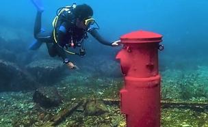 תיבת דואר מתחת למים ביפן (צילום: חדשות 2)