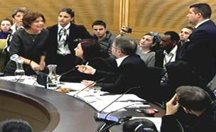 צפו במהומה בוועדת הפנים (צילום: ערוץ הכנסת)