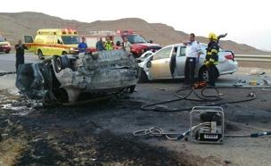 """זירת תאונה, ארכיון (צילום: דוברות מד""""א)"""