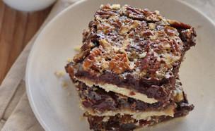 ריבועי שוקולד ופקאנים מהבלוג פאי בריבוע (צילום: דור משה, פאי בריבוע)