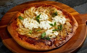 פיצה מתוקה עם קרמל ואגסים (צילום: אמיר מנחם, מאסטר שף)