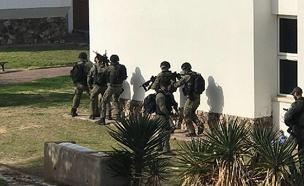 הכוחות תרגלו השתלטות (צילום: קרדיט דוברות המשטרה)