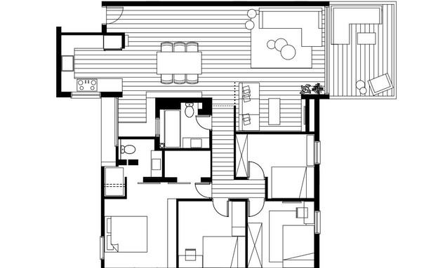 ארט אוף ספייס, תוכנית אדריכלית (שרטוט: גילי רשף גול)