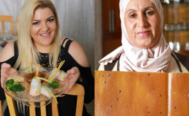 סיון עמר ונאדיה עוויד (צילום: אבישי פינקלשטיין)