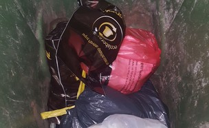 קפסולות נספרסו בפח האשפה (צילום: mako)