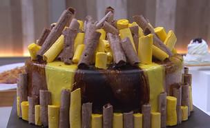 """""""עוגת קונקורד משוגעת"""" (צילום: מתוך """"בייק אוף ישראל"""", שידורי קשת)"""