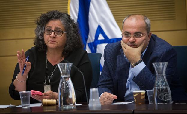 תומא סלימאן (משמאל) ואחמד טיבי (צילום: מרים אלסטר / פלאש 90)