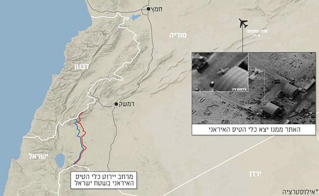 """האתר ממנו יצא כלי הטיס האיראני (צילום: דובר צה""""ל)"""