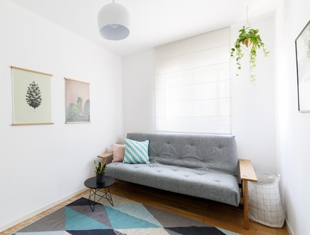 דירה בשינקין, עיצוב טל מידן להמן, חדר אורחים