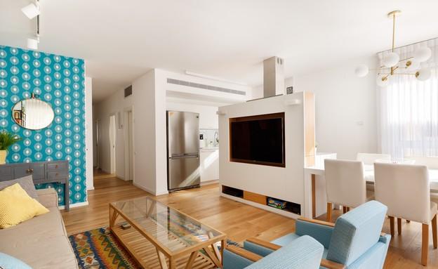דירה בשינקין, עיצוב טל מידן להמן, סלון (צילום: אורית ארנון)