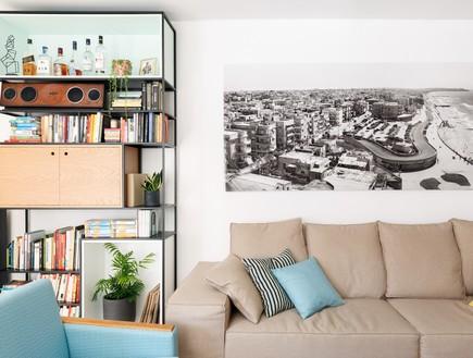 דירה בשינקין, עיצוב טל מידן להמן, סלון
