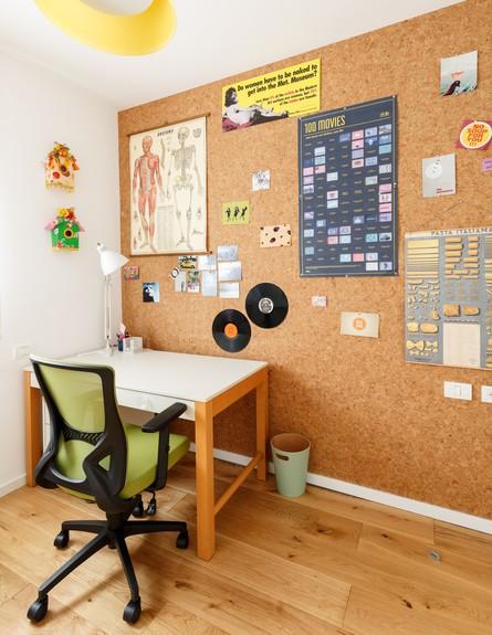 דירה בשינקין, עיצוב טל מידן להמן, ג, חדר עבודה (צילום: אורית ארנון)