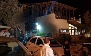 הבית בו התרחש הפיגוע בחלמיש (צילום: חדשות 2)