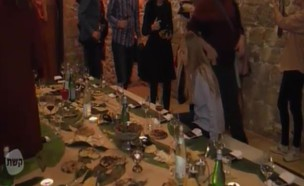 """ריטה גולדשטין באירוע הקולינרי הכי סודי (צילום: מתוך """"חי בלילה"""", קשת 12)"""