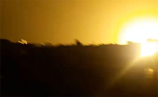 תקיפות צהל ברצועת עזה (צילום: חדשות 2)