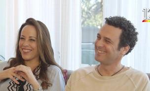 """עדן הראל ועודד מנשה בראיון ל""""אנשים"""" (צילום: מתוך אנשים, שידורי קשת)"""