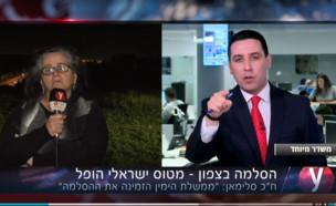 אטילה שומפלבי ועאידה תומא סלימאן באולפן YNET (צילום: צילום מסך מתוך אתר Ynet)
