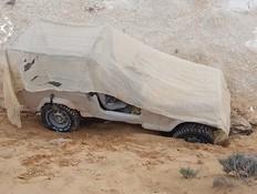 """רכב צה""""לי שנתפס אצל חוליית מבריחים (צילום: חטיבת דוברות משטרת ישראל)"""