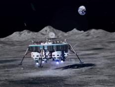 הדמיה של טיסה לירח של חברת מון אקספרס (צילום: אתר החברה)