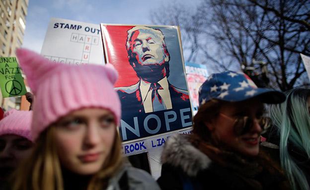 הפגנות נשים נגד טראמפ, 2017 (צילום: רויטרס)