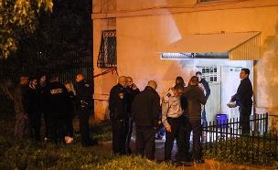 זירת הרצח של אלן פרנקלין קאי בנתניה (צילום: Flash90)