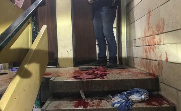 זירת הרצח (צילום: חטיבת דוברות  משטרת ישראל)