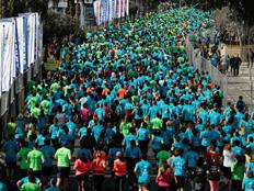 """מרתון ת""""א בשנה שעברה (צילום: רויטרס)"""