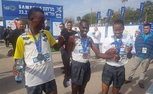 הזוכים במרתון תל אביב (צילום: רונן טופלברג)