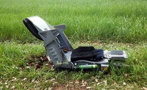 כיסא המפלט של מטוס הקרב (צילום: אשר לוי)