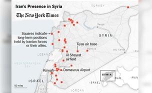 המפה שחושפת: כך מתבססת אירן בסוריה (צילום: ניו יורק טיימס)