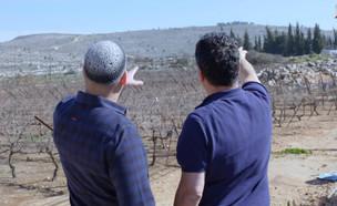 יהוידע ניזרי וחיים כהן בתצפית על עמונה  (צילום: מאסטר שף, שידורי קשת)
