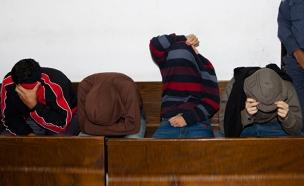 חשודים בבית המשפט, למצולמים אין קשר לכתבה (צילום: פלאש 90 , אמיר לוי)