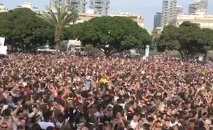 מסיבת הרחוב בתל אביב. אתמול (צילום: גיא יחיאלי)
