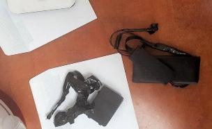 המכשיר עמו נתפס החשוד (צילום: המשטרה)