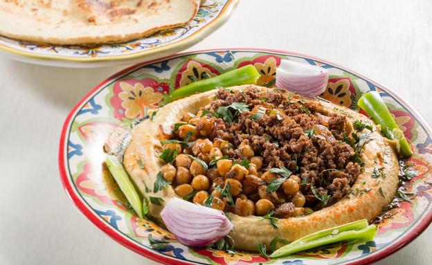חומוס עם בשר (צילום: בני גם זו לטובה, אוכל טוב)