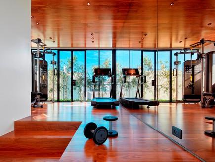 בית בתל אביב, סמט אדריכלים, חדר כושר (צילום: שי גיל)