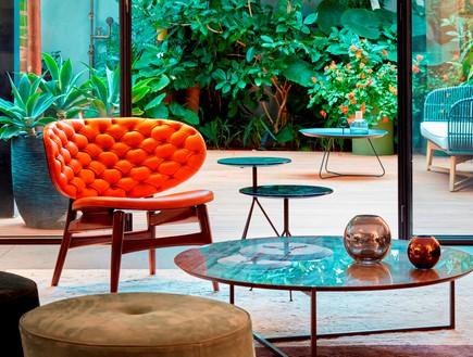 בית בתל אביב, סמט אדריכלים, סלון (צילום: שי גיל)