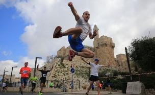 מרתון ווינר ירושלים. (צילום: פלאש 90)